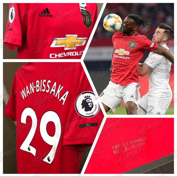 official photos c0151 c5fd6 🔥 Wan-Bissaka #29 Manchester United Soccer Jersey NWT